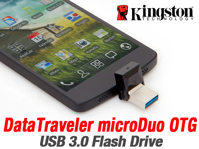 Kingston DataTraveler microDuo OTG USB 3.0 Flash Drive
