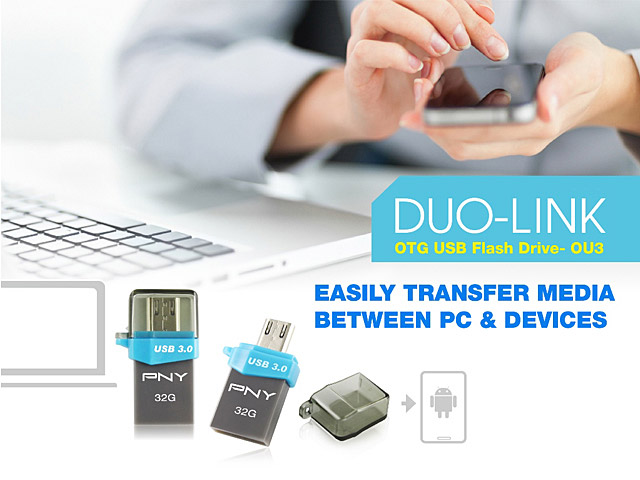 PNY Duo-LINK OU3 OTG USB 3.0 Flash Drive
