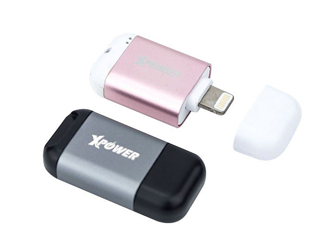 Xpower iReader Aluminium Alloy Lightning Card Reader