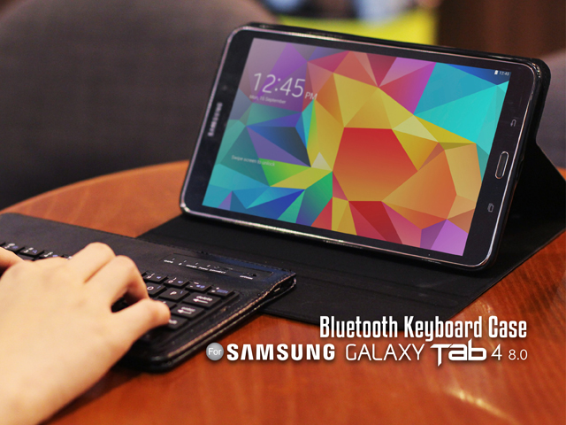 huge selection of 79c7e e34f0 Samsung Galaxy Tab 4 8.0 Case with Bluetooth Keyboard