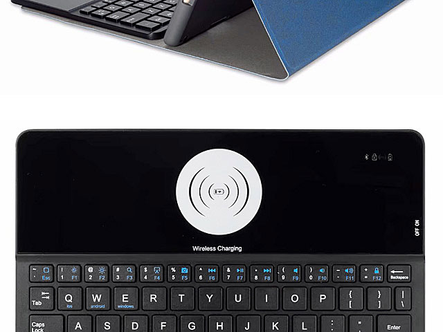 iPad Air (2019) Bluetooth Keyboard Case with Wireless Charger
