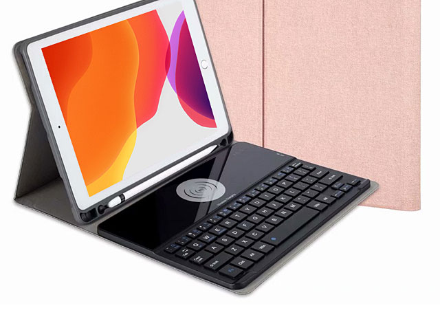 iPad 10.2 Bluetooth Keyboard Case with Wireless Charger