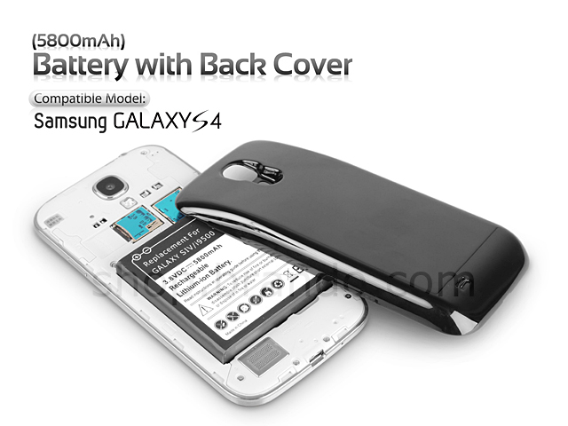 Case Design rechargeable phone case galaxy s4 : Samsung Galaxy S4 Extended Battery with Back Cover (5800mAh)