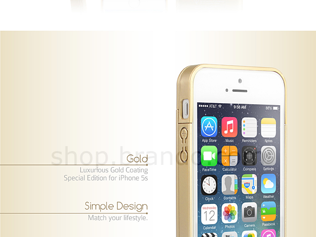 Gold Power Jacket for iPhone 5s / SE - 2200mAh