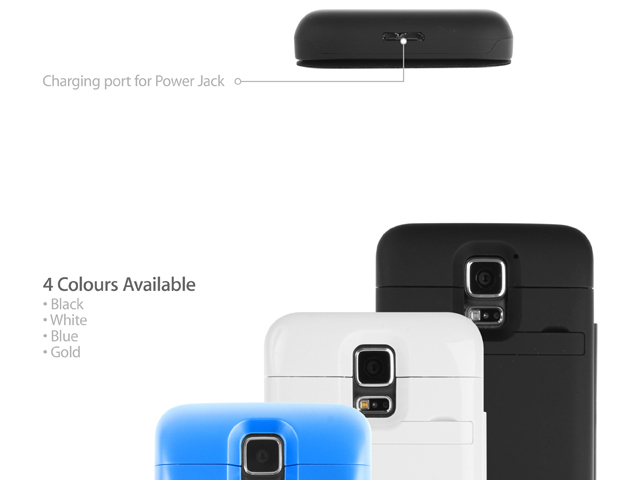 Power Jacket with cover For Samsung Galaxy S5 - 4800mAh