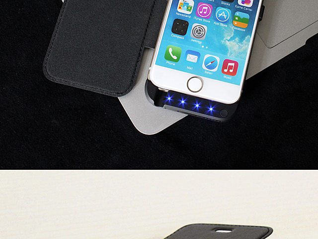 Power Jacket with cover For iPhone 6 / 6s - 3000mAh