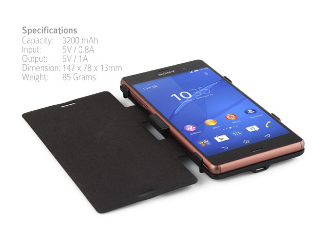 Power Jacket with cover For Sony Xperia Z3 - 3200mAh