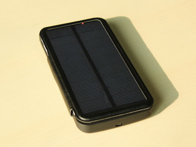 Solar Power Jacket For Samsung Galaxy Note 4 4800mah