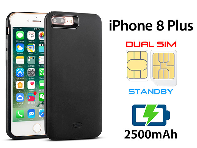 3 In 1 Dual SIM Card Power Jacket For IPhone 8 Plus