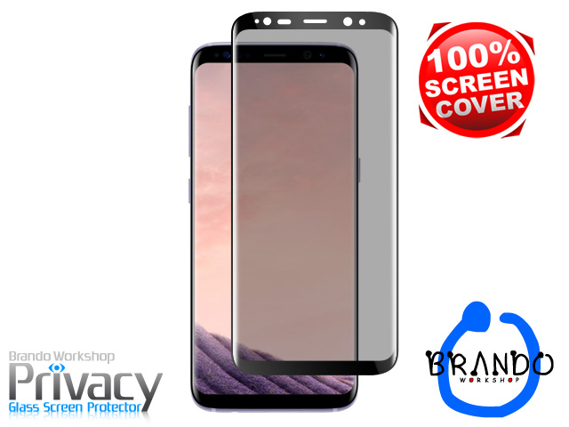 Brando Workshop Full Screen Coverage Curved Privacy Glass Screen Protector (Samsung Galaxy S8+) - Black