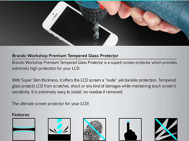 Brando Workshop Premium Tempered Glass Protector (Lenovo TAB S8-50 Tablet)