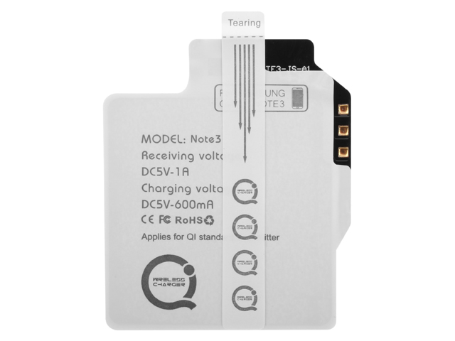 QI Standard Wireless Charging Receiver for Samsung Galaxy Note 3