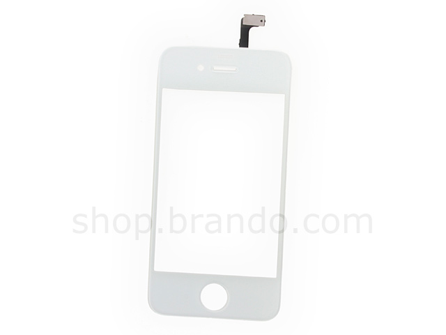 iPhone 4 Replacement Digitizer / Touch Panel with Glass Lens - White