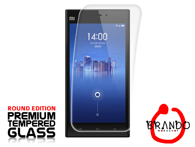 Brando Workshop Premium Tempered Glass Protector (Rounded Edition) (Xiaomi MI-3)