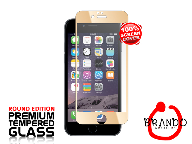 Brando Workshop Full Screen Coverage Glass Protector (iPhone 6 Plus) - Gold