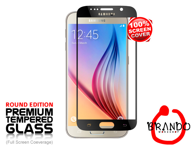 Brando Workshop Full Screen Coverage Glass Protector (Samsung Galaxy S6) - Black