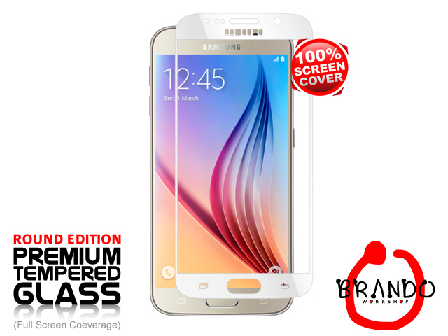 Brando Workshop Full Screen Coverage Glass Protector (Samsung Galaxy S6) - White