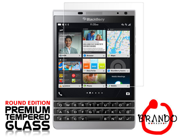 Brando Workshop Premium Tempered Glass Protector (Rounded Edition) (BlackBerry Passport Silver Edition)