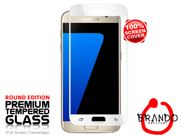 Brando Workshop Full Screen Coverage Glass Protector (Samsung Galaxy S7) - White