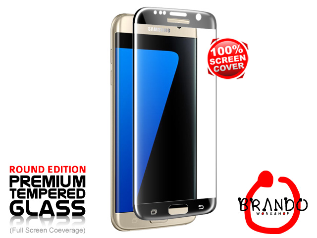 Brando Workshop Full Screen Coverage Curved Glass Protector (Samsung Galaxy S7 edge) - Black