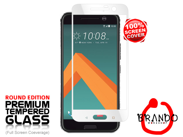 Brando Workshop Full Screen Coverage Glass Protector (HTC 10) - White