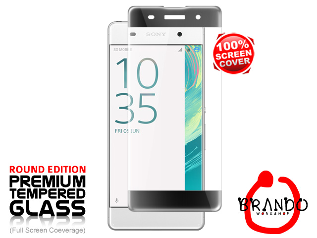 Brando Workshop Full Screen Coverage Curved Glass Protector (Sony Xperia XA) - Black