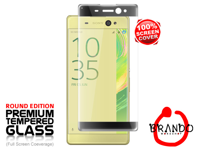 Brando Workshop Full Screen Coverage Curved Glass Protector (Sony Xperia XA Ultra) - Black