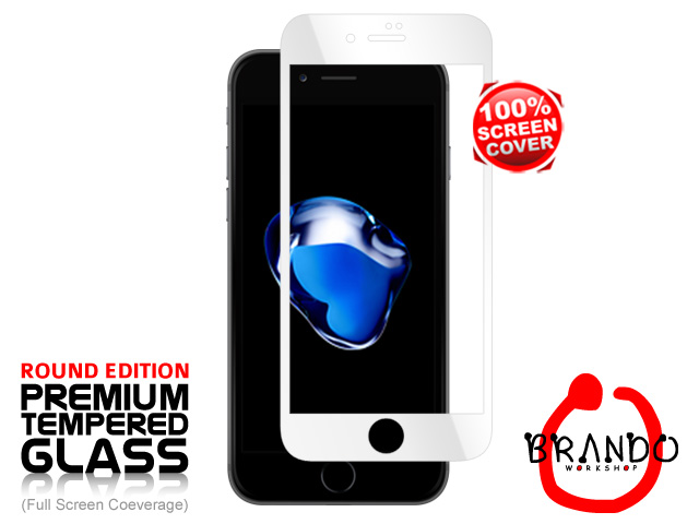 Brando Workshop Full Screen Coverage Glass Protector (iPhone 7) - White