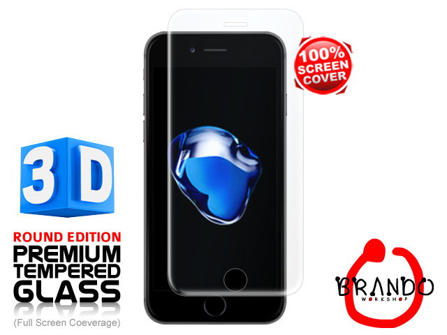Brando Workshop Full Screen Coverage Curved 3D Glass Protector (iPhone 7) – Transparent