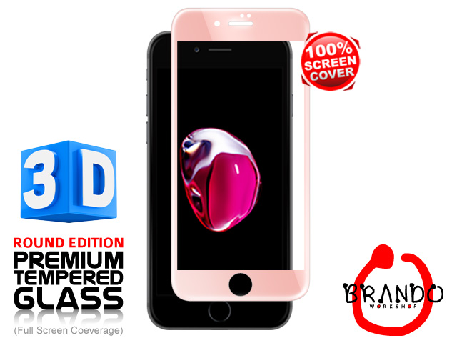 Brando Workshop Full Screen Coverage Curved Glass Protector (iPhone 7 Plus) – Rose Gold