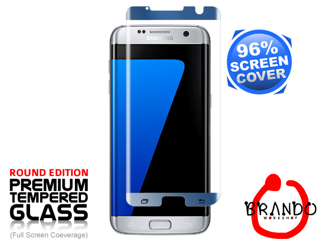 Brando Workshop 96% Half Coverage Curved Glass Protector (Samsung Galaxy S7 edge) - Forest Blue