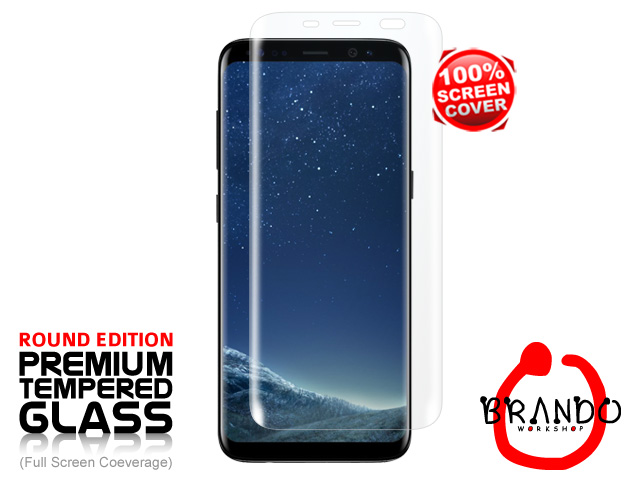 Brando Workshop Full Screen Coverage Glass Protector (Samsung Galaxy S8) - Transparent