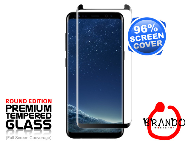 Brando Workshop 96% Half Coverage Curved Glass Protector (Samsung Galaxy S8) - Black