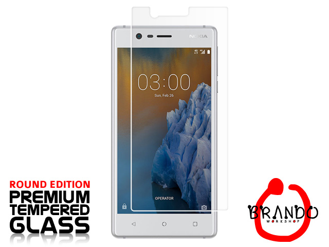 Brando Workshop Premium Tempered Glass Protector (Rounded Edition) (Nokia 3)