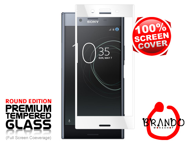 Brando Workshop Full Screen Coverage Glass Protector (Sony Xperia XZ Premium) - White