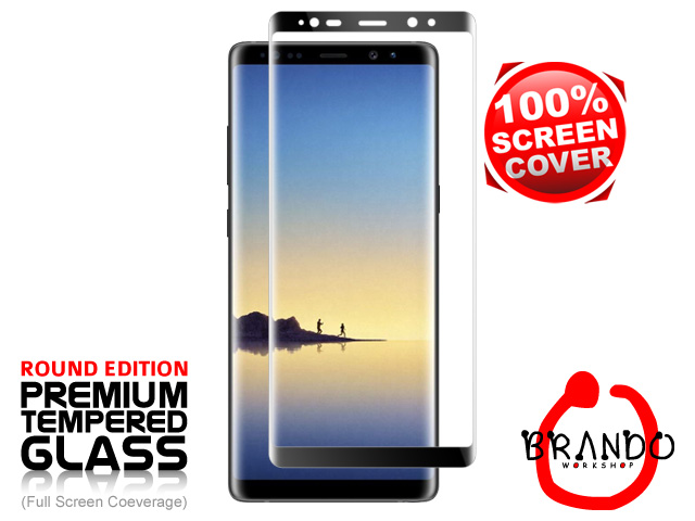 Brando Workshop Full Screen Coverage Curved Glass Protector (Samsung Galaxy Note8) - Black