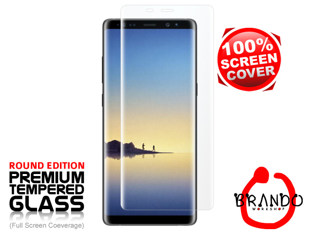 Brando Workshop Full Screen Coverage Curved Glass Protector (Samsung Galaxy Note8) - Transparent