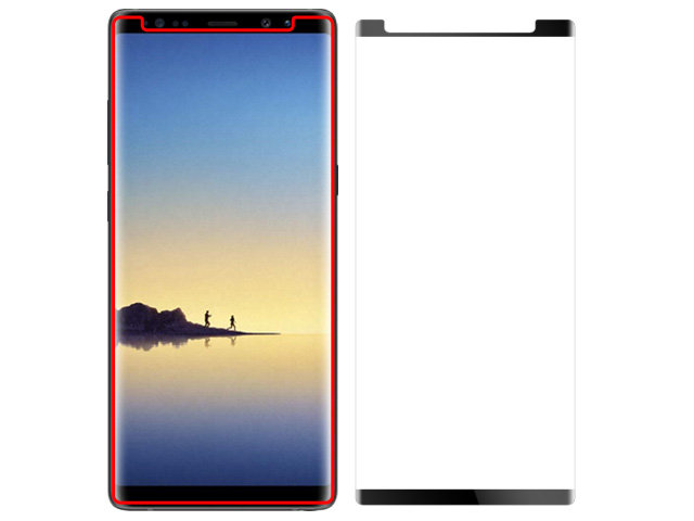 Brando Workshop 96% Half Coverage Curved Glass Protector (Samsung Galaxy Note8) - Black