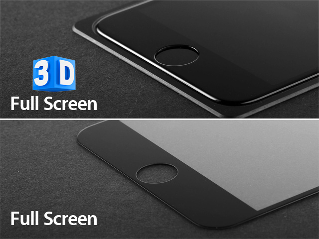 Brando Workshop Full Screen Coverage Curved 3D Glass Protector (iPhone 8 Plus) - White