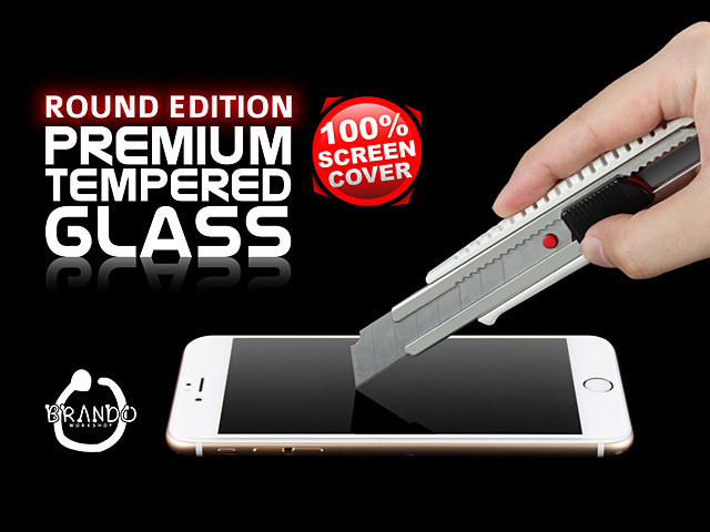 Brando Workshop Full Screen Coverage Curved 3D Glass Protector (iPhone 8 Plus) - Black