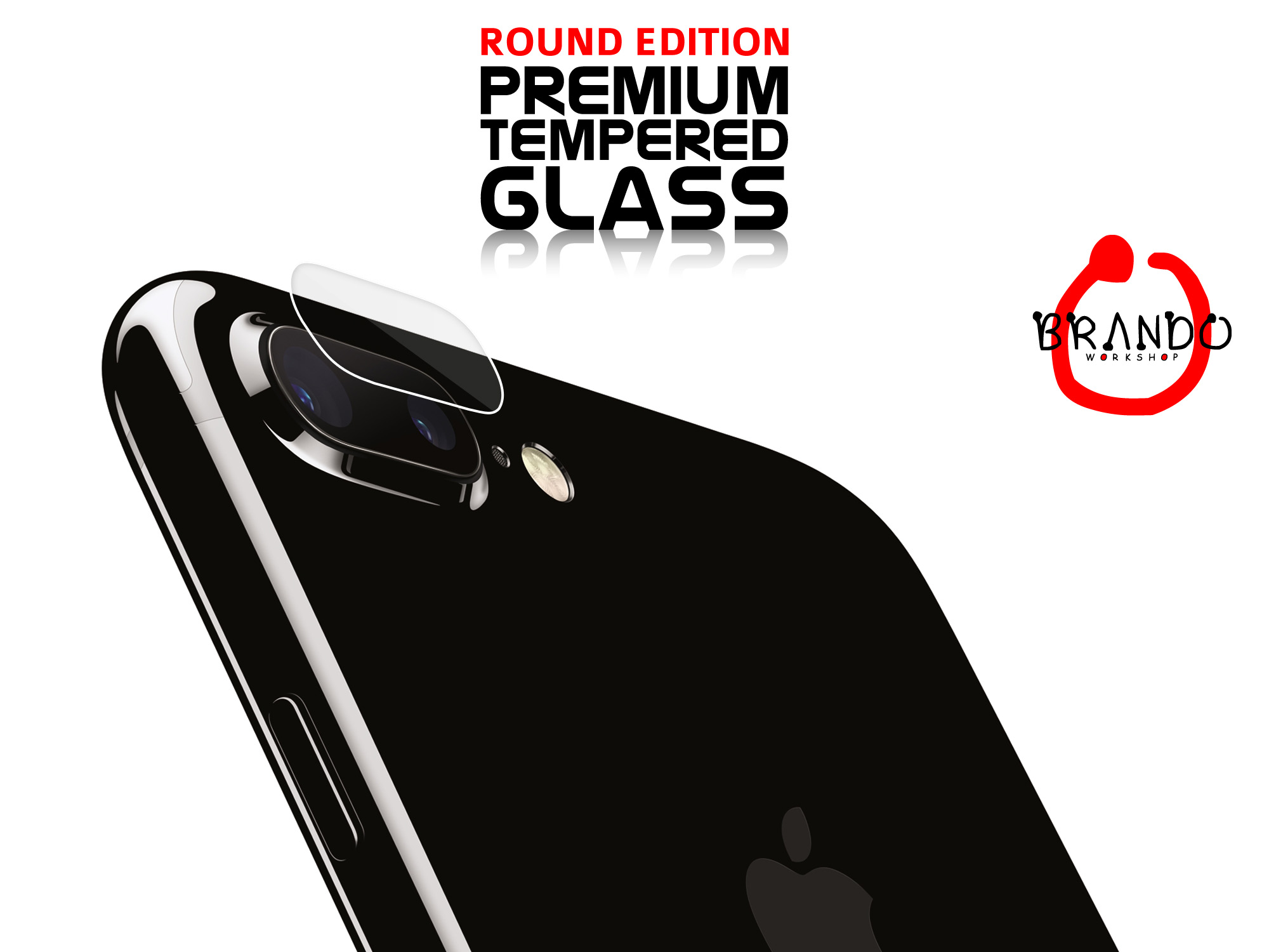Brando Workshop Premium Tempered Glass Protector (Rounded Edition) (iPhone 8 Plus Rear Camera)
