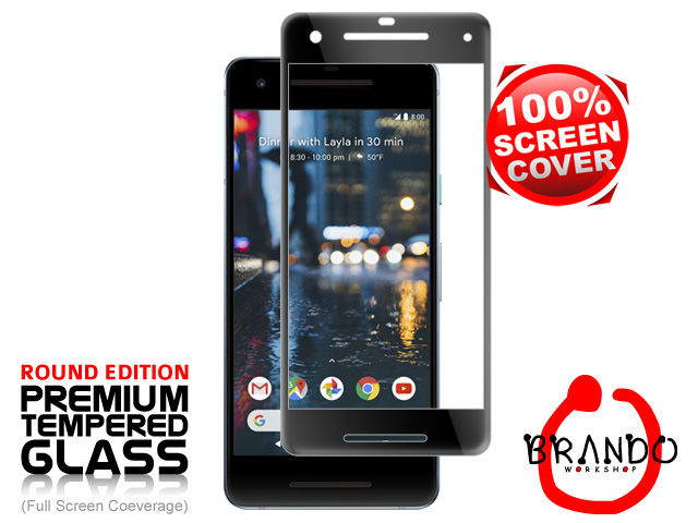 Brando Workshop Full Screen Coverage Curved Glass Protector (Google Pixel 2) - Black