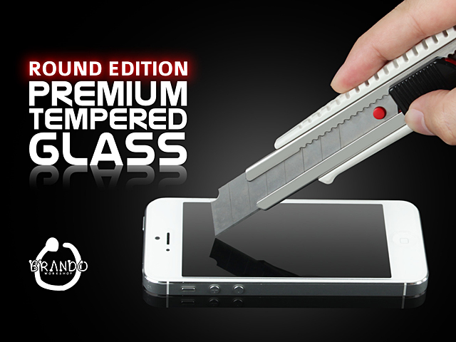 Brando Workshop Premium Tempered Glass Protector (Rounded Edition) (iPhone 8 - Back Cover)