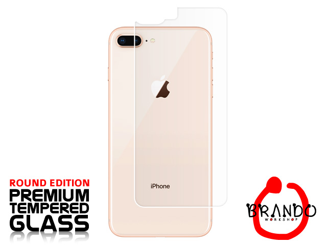 Brando Workshop Premium Tempered Glass Protector (Rounded Edition) (iPhone 8 Plus - Back Cover)