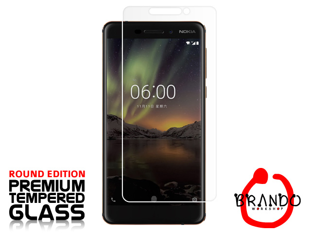Brando Workshop Premium Tempered Glass Protector (Rounded Edition) (Nokia 6 (2018))