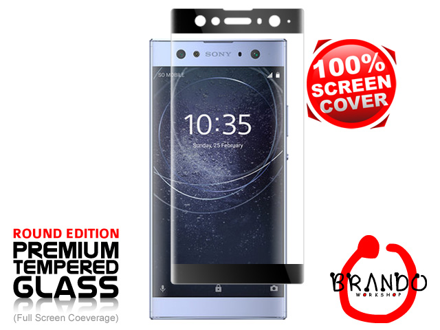 Brando Workshop Full Screen Coverage Curved Glass Protector (Sony Xperia XA2 Ultra) - Black