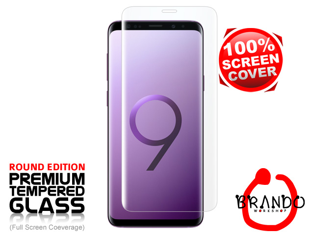 Brando Workshop Full Screen Coverage Curved Glass Protector (Samsung Galaxy S9) - Transparent
