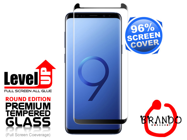 Brando Workshop 96% Half Coverage Curved Glass Protector (Samsung Galaxy S9+) - Black