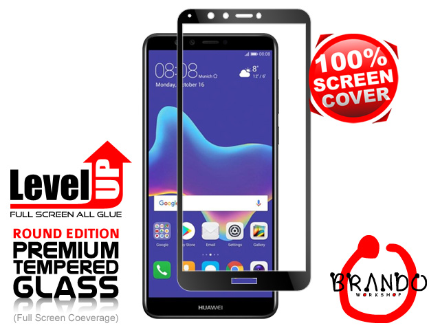 Brando Workshop Full Screen Coverage Glass Protector (Huawei Y9 (2018)) - Black