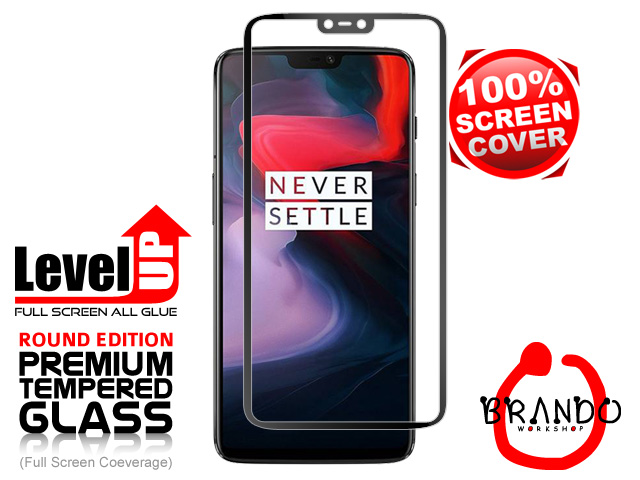 Brando Workshop Full Screen Coverage Glass Protector (OnePlus 6) - Black